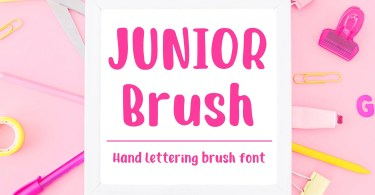 Junior Brush [1 Font] | The Fonts Master
