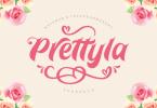 Prettyla [1 Font] | The Fonts Master