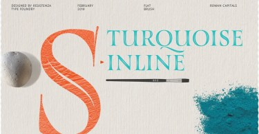 Turquoise Inline [1 Font] | The Fonts Master