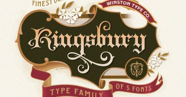 Wt Kingsbury [5 Fonts] | The Fonts Master