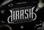 Harsh &Amp; Bonus [1 Font + Extras] | The Fonts Master