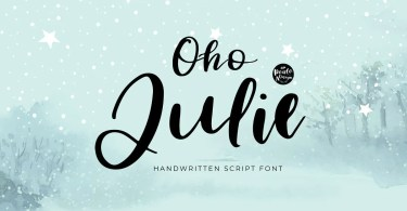 Oho Julie [1 Font] | The Fonts Master