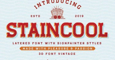 Staincool [6 Fonts]