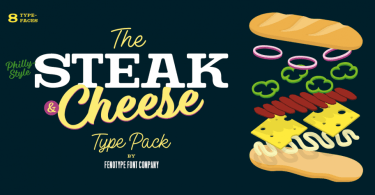 Steak And Cheese [8 Fonts] | The Fonts Master