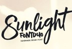 Sunlight Brush Duo [4 Fonts] | The Fonts Master