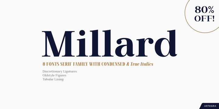 Millard Super Family [8 Fonts] | The Fonts Master