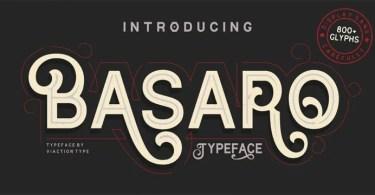 Basaro [1 Font] | The Fonts Master