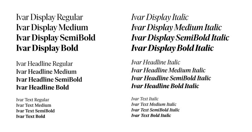 Ivar Super Family [24 Fonts]   The Fonts Master