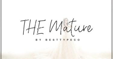 Mature Script [1 Font] | The Fonts Master