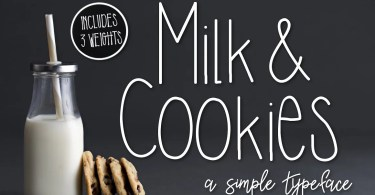 Milk &Amp; Cookies [3 Fonts] | The Fonts Master