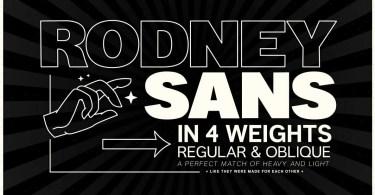 Rodney Sans [8 Fonts] | The Fonts Master