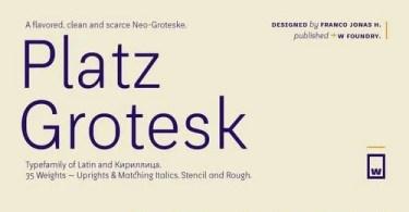 Platz Grotesk Super Family [32 Fonts] | The Fonts Master