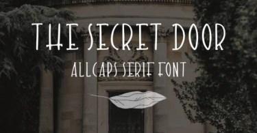 The Secret Door [1 Font] | The Fonts Master