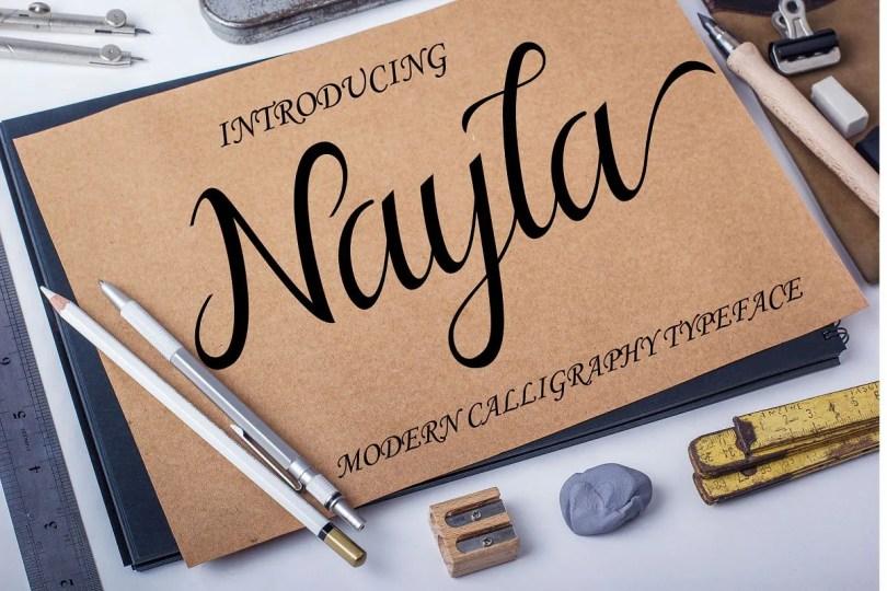 Nayla [1 Font] | The Fonts Master