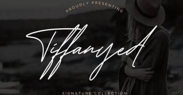 Tiffanyed Signature Collection [1 Font] | The Fonts Master