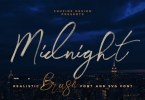 Midnight Brush [4 Fonts] | The Fonts Master