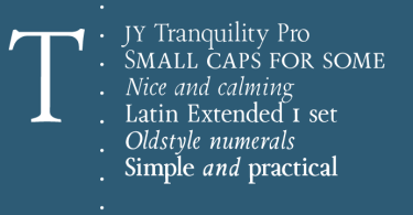 Tranquility Jy Pro Super Family [6 Fonts] | The Fonts Master