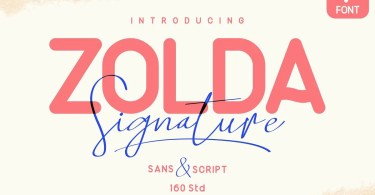 Zolda Script + Sans Family [7 Fonts] | The Fonts Master