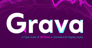 Grava Super Family [40 Fonts] | The Fonts Master