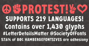 Protest [1 Font] | The Fonts Master