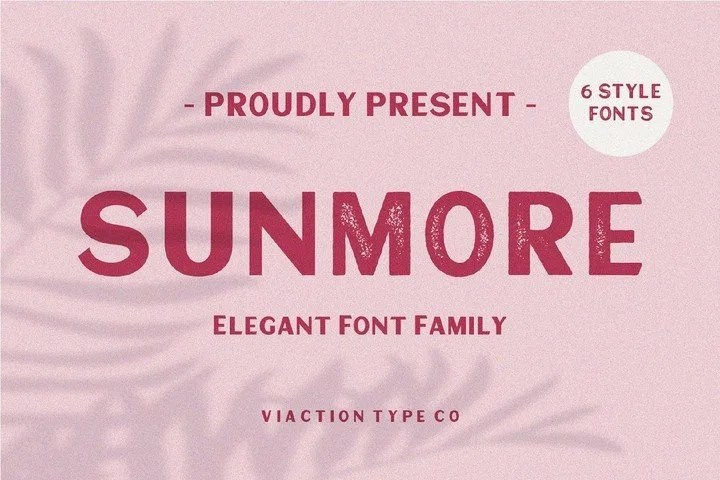 Sunmore [6 Fonts]