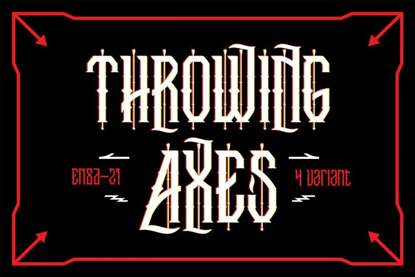 Throwing Axes [4 Fonts] | The Fonts Master