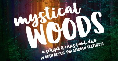 Mystical Woods [4 Fonts]