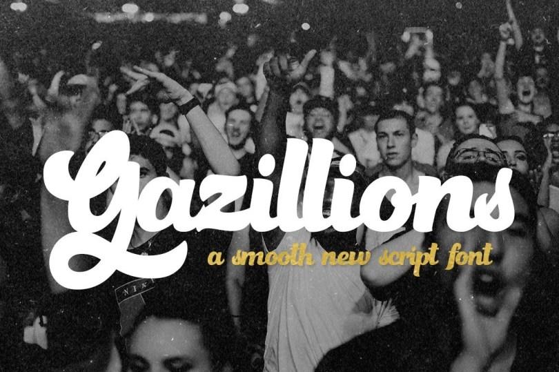 Gazillions Script [2 Fonts] | The Fonts Master