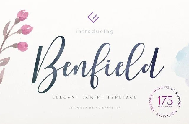 Benfield [1 Font]   The Fonts Master