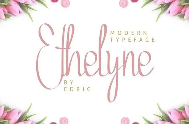 Ethelyne [2 Fonts]   The Fonts Master
