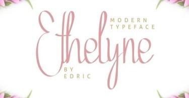 Ethelyne [2 Fonts] | The Fonts Master