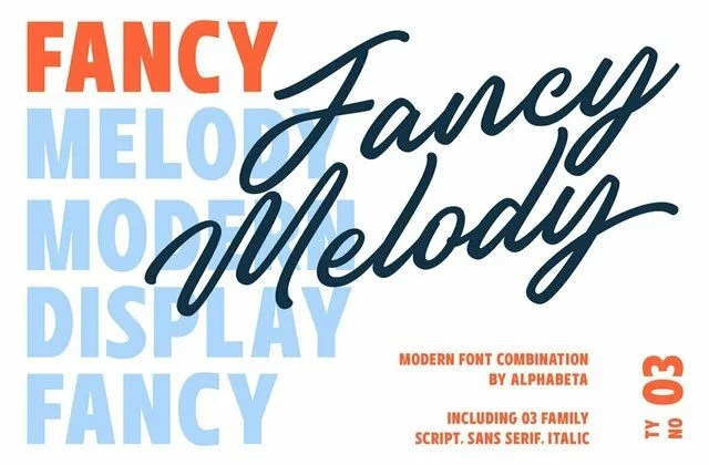 Fancy Melody [3 Fonts]   The Fonts Master
