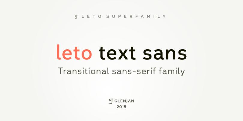 Leto Text Sans Super Family [9 Fonts] | The Fonts Master