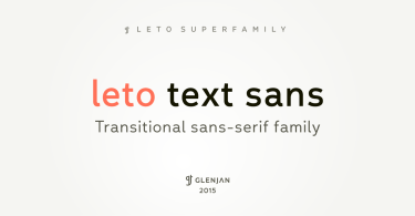 Leto Text Sans Super Family [9 Fonts] | The Fonts Master