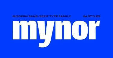 Mynor Super Family [84 Fonts] | The Fonts Master