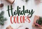 Holiday Colors [3 Fonts] | The Fonts Master