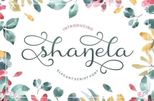 Shanela [1 Font]   The Fonts Master