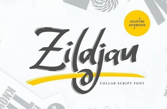 Zildjan [1 Font] | The Fonts Master
