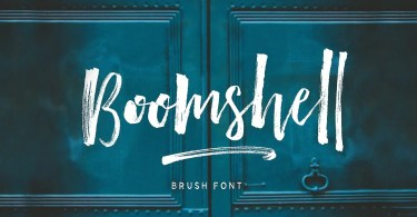Boomshell Brush [9 Fonts] | The Fonts Master