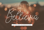 Bellievia [1 Font] | The Fonts Master