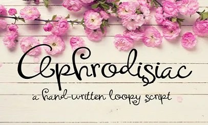 Aphrodisiac [1 Font]   The Fonts Master