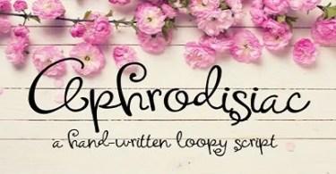 Aphrodisiac [1 Font] | The Fonts Master