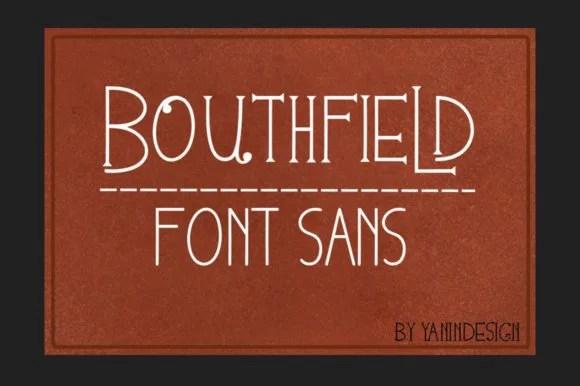 Bouthfield [1 Font] | The Fonts Master