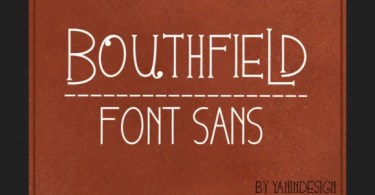 Bouthfield [1 Font] | The Fonts Master