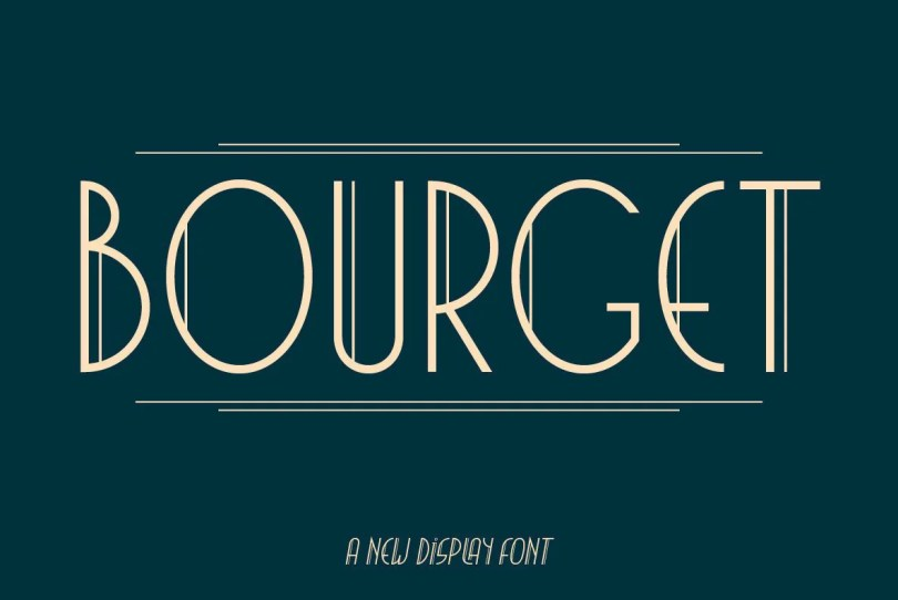 Bourget [2 Fonts] | The Fonts Master