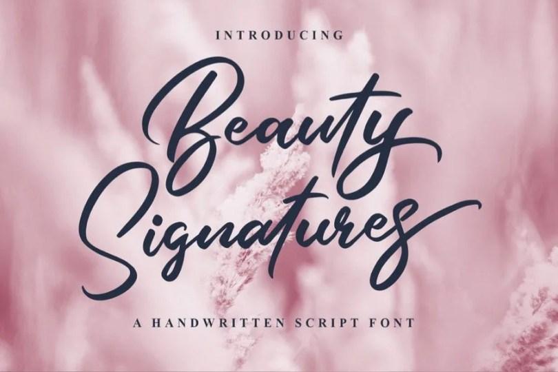 Beauty Signatures [1 Font] | The Fonts Master