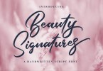 Beauty Signatures [1 Font] | The Fonts Master