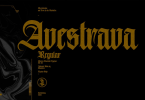 Avestrava Regular [1 Font] | The Fonts Master