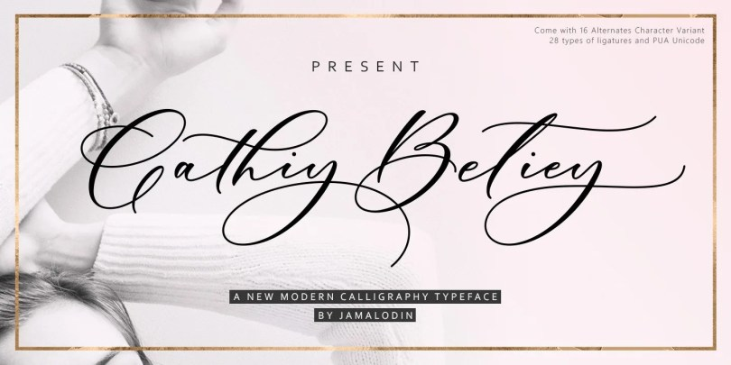 Cathiy Betiey [1 Font] | The Fonts Master