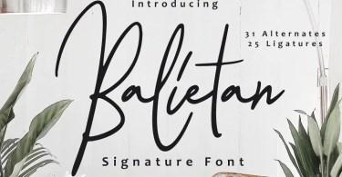 Balietan [1 Font] | The Fonts Master